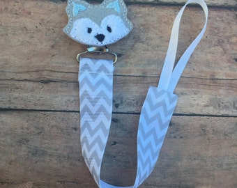 Husky Pacifier Clip - Pacifier Holder - Paci Clip - Boy Pacifier Clip - Baby Pacifier Clip - Husky - Dog paci - baby boy paci clip - doggie