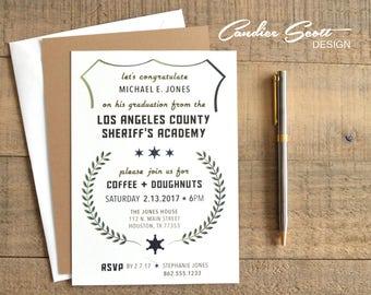 LA County Sheriff Graduation Invitation, Do It Yourself Printable File