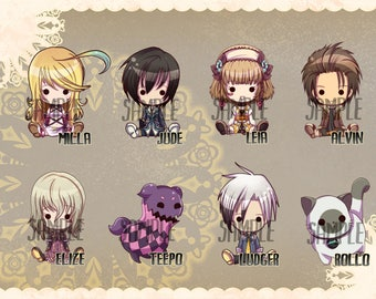 Tales of Xillia inspired Keychains