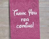 "Disney Princess ""Thank You"" Sign // INSTANT DOWNLOAD // Party Decor // Printable, Digital"