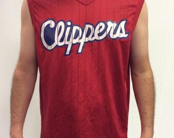 LA Clippers Vintage Pinstripe Jersey
