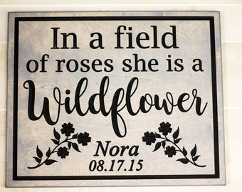 Gift for her- Nursery Sign - Gift for mom - Newborn -Nursery wall art - Wall art- nursery-Baby girl nursery-Baby shower