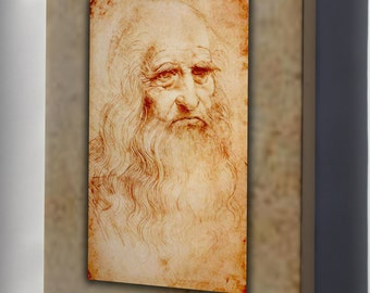 Canvas 24x36; Leonardo Da Vinci Self Portrait