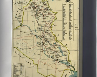 Canvas 24x36; Archaeological Map Of Iraq 1967