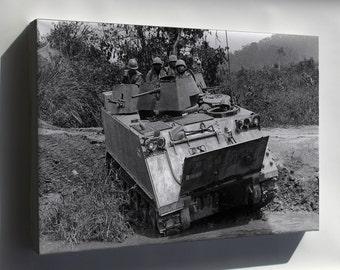 Canvas 24x36; M113 Armored Personnel Carrier Vietnam 1966 - Copy