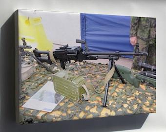 Canvas 24x36; 7,62 Kk Pkm Machine Gun Helsinki 2012