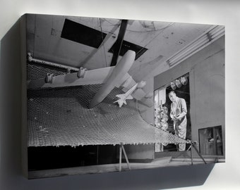 Canvas 24x36; Model Of The X-15, Langley Wind Tunnel 1958