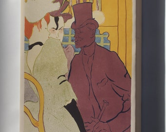 Canvas 24x36; Henri De Toulouse Lautrec, French Flirt An Englishman At The Moulin Rouge