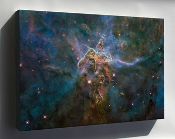 Canvas 24x36; Mystic Mountain Inside Carina Nebula Hubble Space Telescope Image