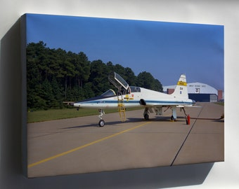 Canvas 24x36; Northrop T-38A Trainer Flew At Langley