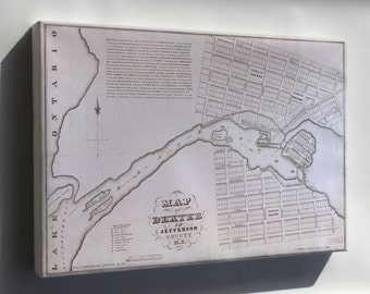 Canvas 24x36; Map Of Dexter New York State 1836