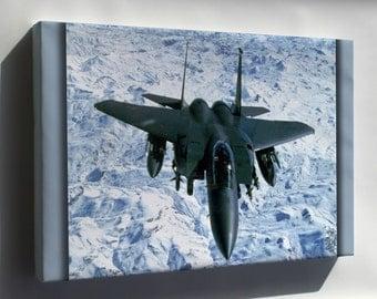 Canvas 24x36; U.S. Air Force F-15E Eagle Over Northern Iraq