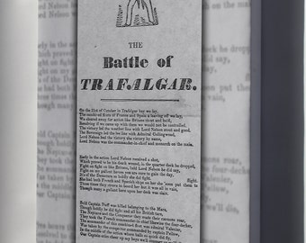 Canvas 16x24; Battle Of Trafalgar Broadside From The 1850S Recounts The Story