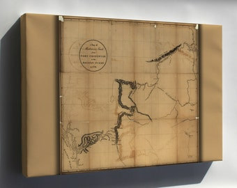 Canvas 16x24; Mackenzie Map Ft Chipewyan To Pacific Ocean 1793