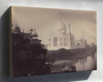 Canvas 16x24; Taj Mahal, Agra, India 1870