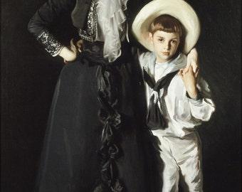 16x24 Poster; John Singer Sargent - Portrait Of Mrs. Edward L. Davis And Her Son, Livingston Davis #031715