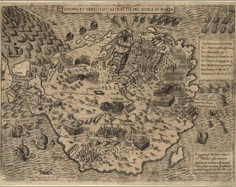 16x24 Poster; Map Of Malta, 1565