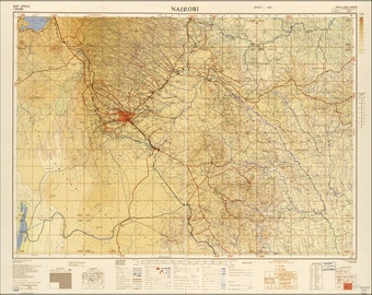 16x24 Poster; Map Of Nairobi 1954