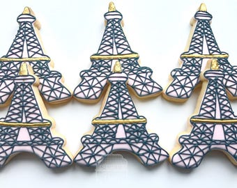 Eiffel Tower Cookies - One Dozen