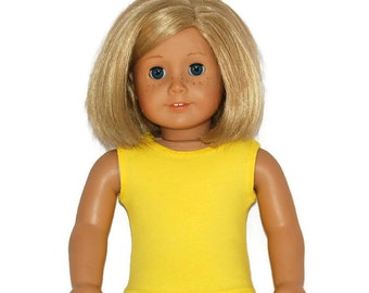 "Yellow Cotton Tank Top - Doll Clothes made to fit 18"" American Girl Dolls"