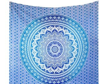 Mandala Wall Tapestries, Hippie Tapestry, Ombre Tapestry Wall Hanging, Bohemian Chic Wall Decor