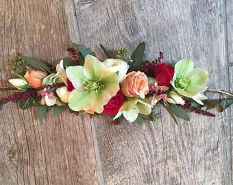 Custom Fresh Flower Crown, Fresh Flower Hair Clip, Fresh  Flowers, Fresh Flower Headband, Flower Headband, Wedding Flowers, Wedding head