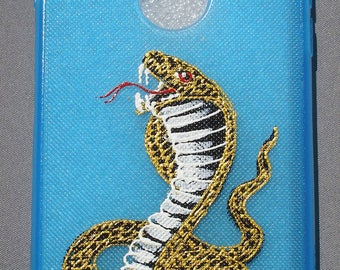 Coiled COBRA Snake Hand Painted Cell Phone cover for I Phone 7