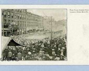 Postcard of Street Fair, Fort Plain, New York, Circa 1905, Undivided Back