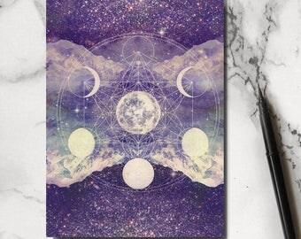 Purple Cosmos Notebook
