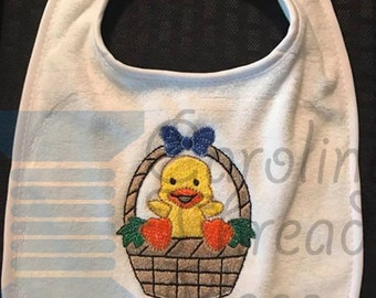 Chick in Easter Basket Baby Bib