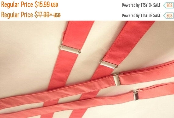 "Winter Sale Sale CLEARANCE   Adults and Children's  ""Rouge"" Suspenders"