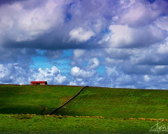 Landscape canvas, countryside, nature photography, landscape photography, panoramic, fine art photography, summer, barn, 16x24, 24x36, 32x48