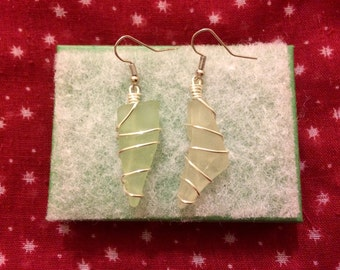 Seaglass earrings - long
