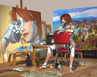 Self Portrait As The Artist