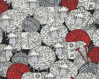 Free US Shipping/Black Knitting Sheep All Over Print