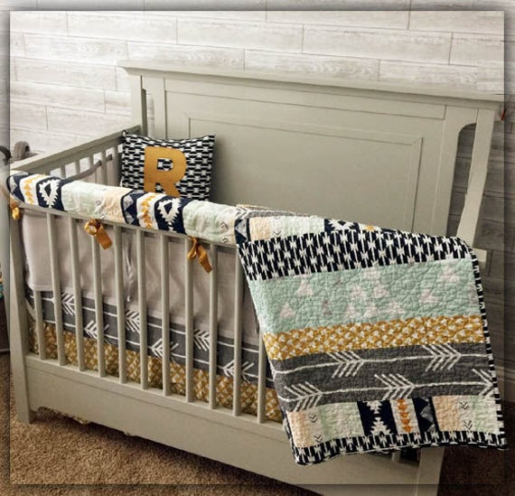 Crib Bedding Set Nursery Woodland Baby Aztec