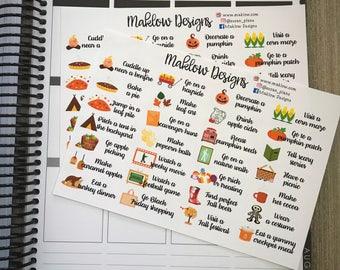 Autumn Bucket List Stickers