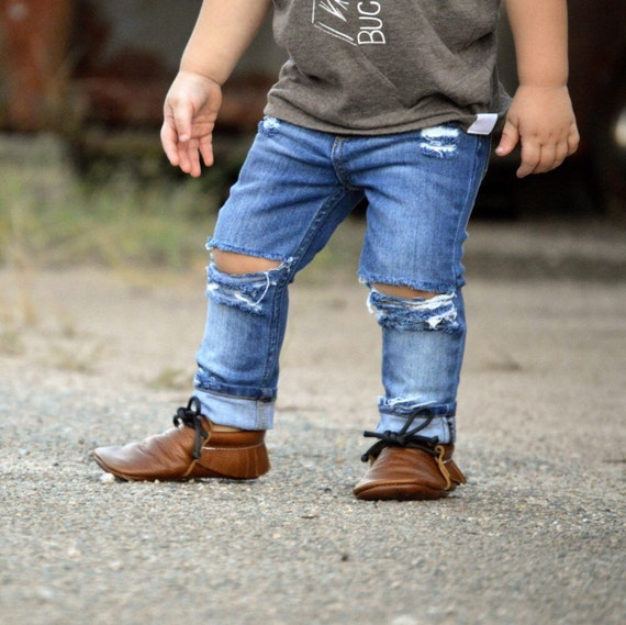 Kids Distressed Skinny Jeans Trendy Baby Gift By