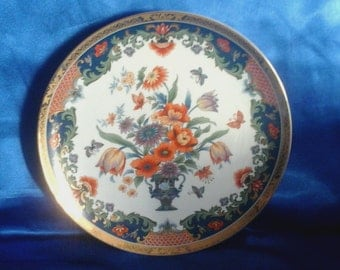 Chinese Decorative Plate with Butterfly's & Flowers Picture