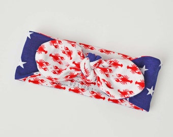 4th of July baby headband, Maine baby, 4th of July baby outfit, Maine lobster clothes, Maine baby, 4th of July Baby Girl, red white blue