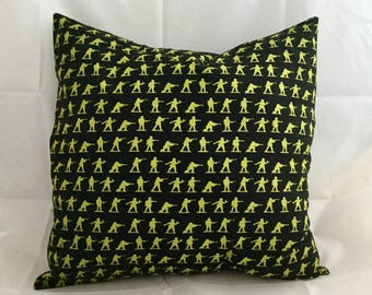 Plastic toy soldier army men cushion cover