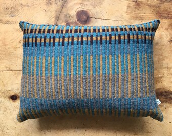 Handwoven Scatter Cushion - Petrol
