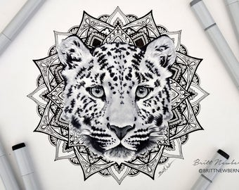 Leopard Mandala PRINT