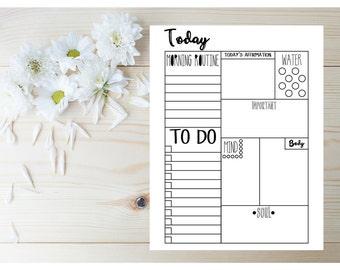 Daily Planner 2017 - Fitness Planner - 2017 Planner - Printable Planner Page - Planner Inserts - Daily Planner Sheets - Letter Size Planner