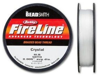 8LB CRYSTAL Berkley Fire Line (Beadsmith) CRYSTAL 8LB/.007 IN/50YD Spool Braided Bead Thread