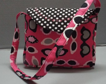 Toddler, Girls Purse or Tote  Chic Sunglasses Fabric