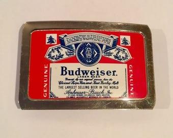 Vintage 80's Budweiser Belt Buckle