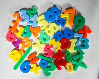 Math Number Magnets - Numbers and Math Symbols