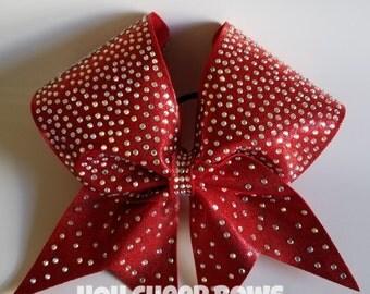 Rhinestone cheer bows