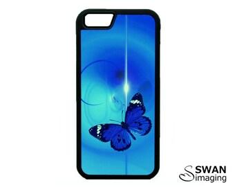 Butterfly Blue Phone Case ~ TPU Case ~ iPhone 5/5S, SE, 6/6S, 6/6S Plus, iPhone 7, 7 Plus ~ Samsung Galaxy S5, S6, S7, S7 Edge, S8, S8 Plus